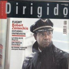 Cine: REVISTA DIRIGIDO POR Nº 428 AÑO 2012. DOSSIER PRE CODE. ROBERT ZEMECKIS. VALLADOLID, DONOSTIA.. Lote 245983930