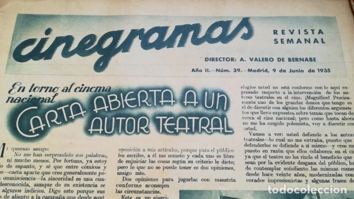Cine: 12 números Revista Cinegramas - Foto 3 - 246103380