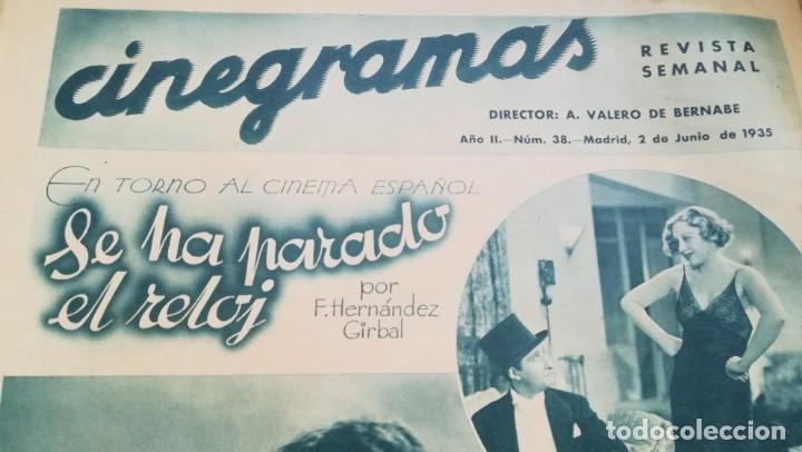 Cine: 12 números Revista Cinegramas - Foto 5 - 246103380