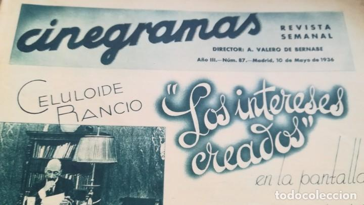 Cine: 12 números Revista Cinegramas - Foto 7 - 246103380