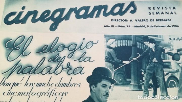 Cine: 12 números Revista Cinegramas - Foto 9 - 246103380