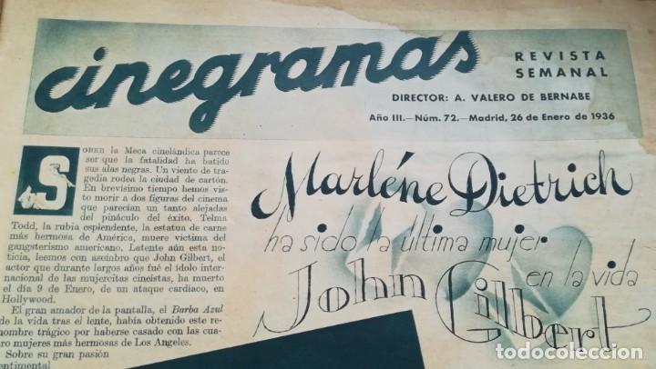 Cine: 12 números Revista Cinegramas - Foto 11 - 246103380