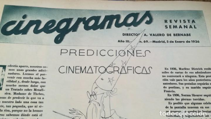 Cine: 12 números Revista Cinegramas - Foto 13 - 246103380