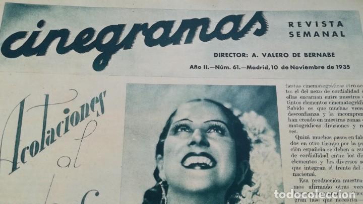 Cine: 12 números Revista Cinegramas - Foto 15 - 246103380