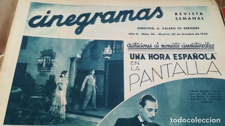 Cine: 12 números Revista Cinegramas - Foto 17 - 246103380