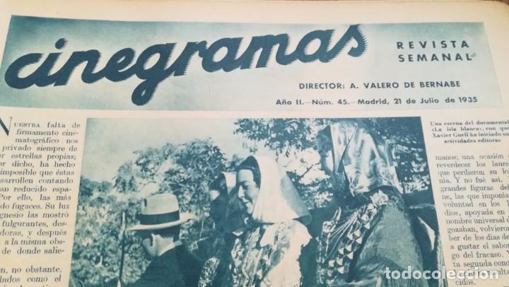 Cine: 12 números Revista Cinegramas - Foto 19 - 246103380