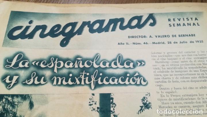 Cine: 12 números Revista Cinegramas - Foto 21 - 246103380