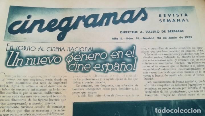 Cine: 12 números Revista Cinegramas - Foto 23 - 246103380