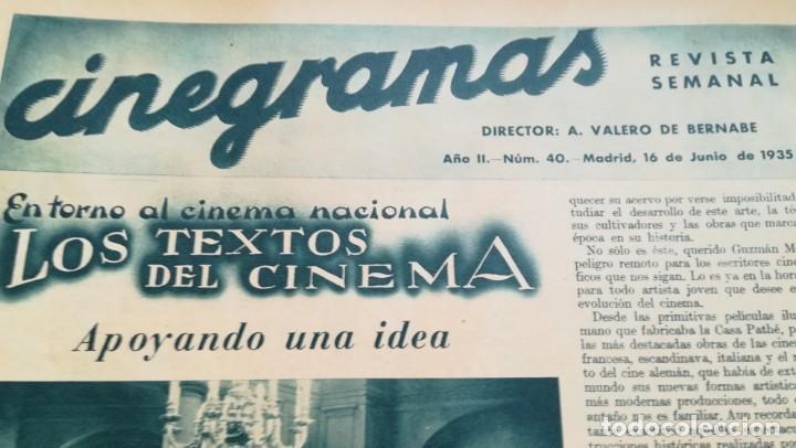 Cine: 12 números Revista Cinegramas - Foto 25 - 246103380