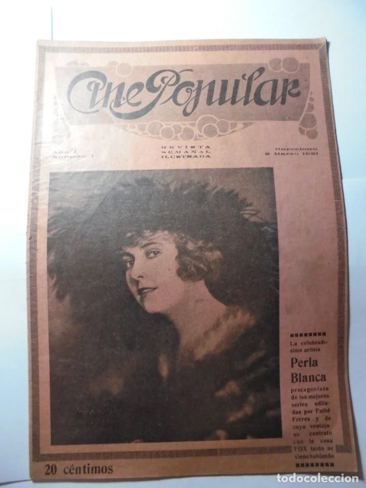 MAGNIFICAS 2 REVISTAS ANTIGUAS CINE POPULAR DEL 1921 (Cine - Revistas - Otros)