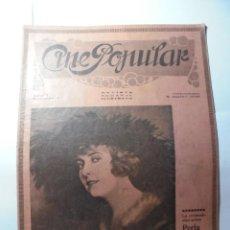 Cine: MAGNIFICAS 2 REVISTAS ANTIGUAS CINE POPULAR DEL 1921. Lote 246372345