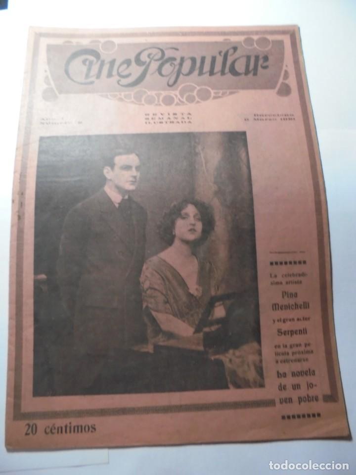 Cine: magnificas 2 revistas antiguas cine popular del 1921 - Foto 18 - 246372345