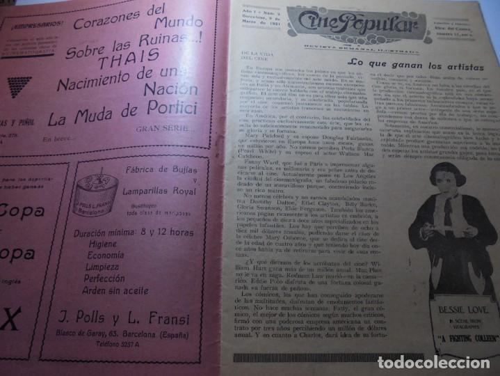 Cine: magnificas 2 revistas antiguas cine popular del 1921 - Foto 24 - 246372345