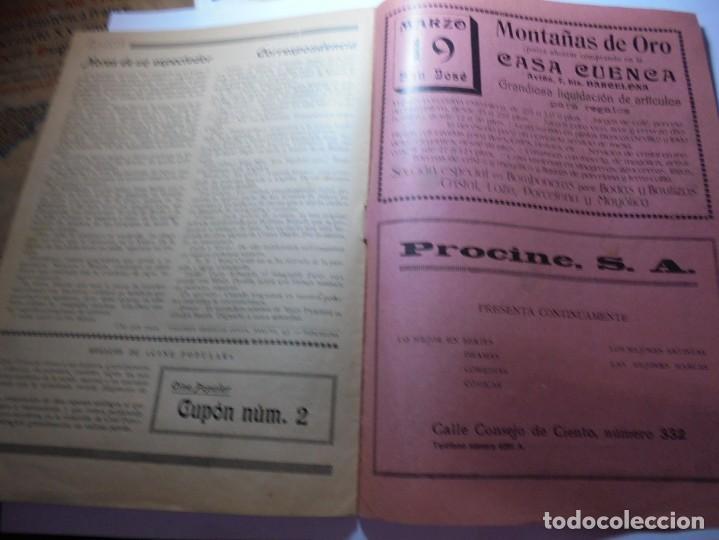 Cine: magnificas 2 revistas antiguas cine popular del 1921 - Foto 32 - 246372345