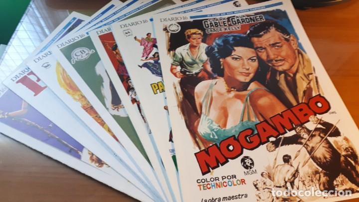 LOTE 26 CARTELES - EL CINE EN SUS MEJORES CARTELES - EDICIÓN CONMEMORATIVA 100 AÑOS DE CINE - DIARIO (Cine - Reproducciones de carteles, folletos...)