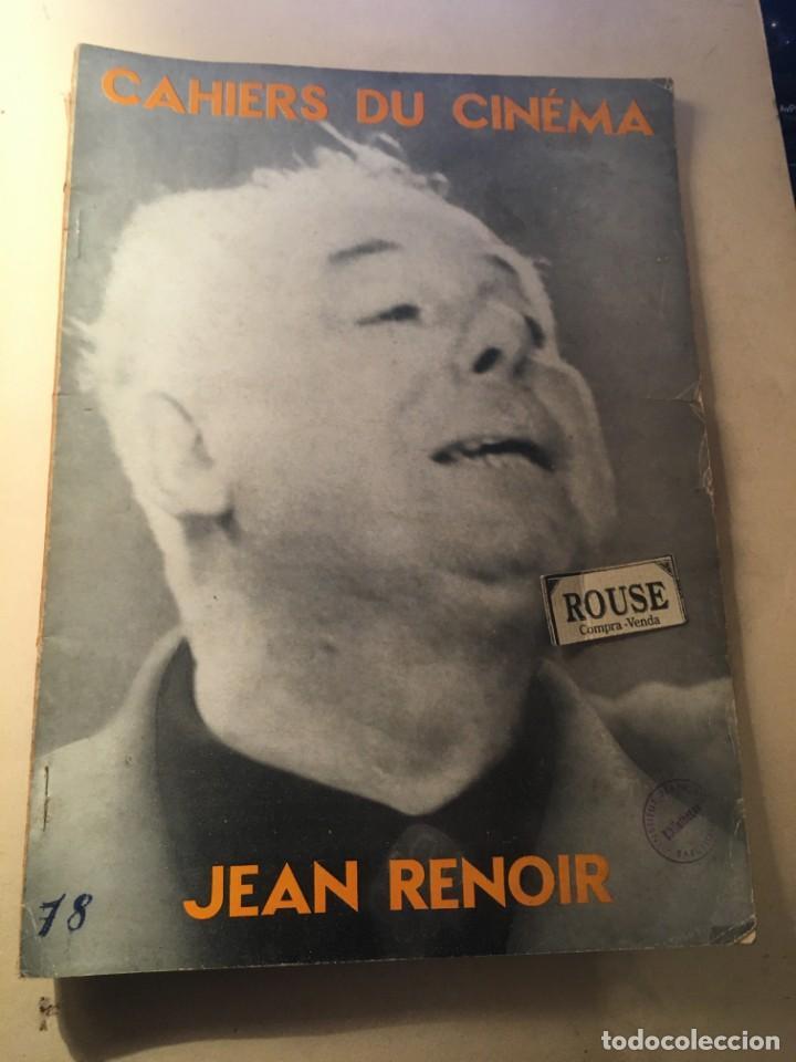CINE - REVISTA - CAHIERS DU CINÉMA Nº 78 NOEL 1957 MONOGRAFICO JEAN RENOIR EDT. DE L'ETOILE (Cine - Revistas - Otros)
