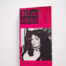Cine: FILM IDEAL - NUMERO DOBLE Nº 220-221 - ESPECIAL SAM PECKINPAH - 1970. Lote 247921670