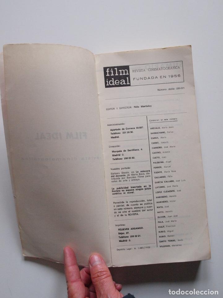 Cine: FILM IDEAL - NUMERO DOBLE Nº 220-221 - ESPECIAL SAM PECKINPAH - 1970 - Foto 3 - 247921670