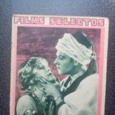 Cine: REVISTA FILMS SELECTOS 1932 DEDICADA A RODOLFO VALENTINO. MEG LEMONNIER, JOHN BARRYMORE. Lote 248128710