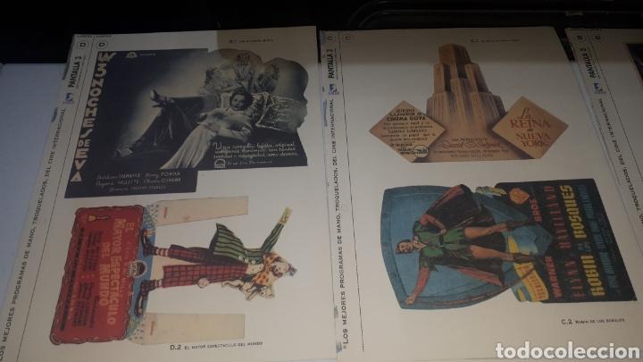 Cine: Lote 11 LAMINAS PROGRAMAS DE MANO TROQUELADOS PANTALLA 3 LEER DESCRIPCION - Foto 2 - 248149005