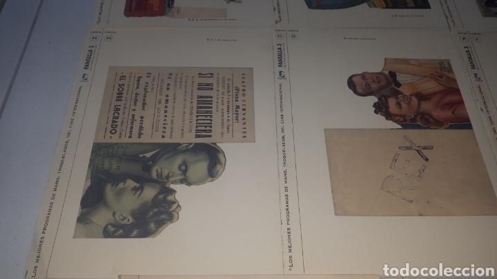 Cine: Lote 11 LAMINAS PROGRAMAS DE MANO TROQUELADOS PANTALLA 3 LEER DESCRIPCION - Foto 5 - 248149005