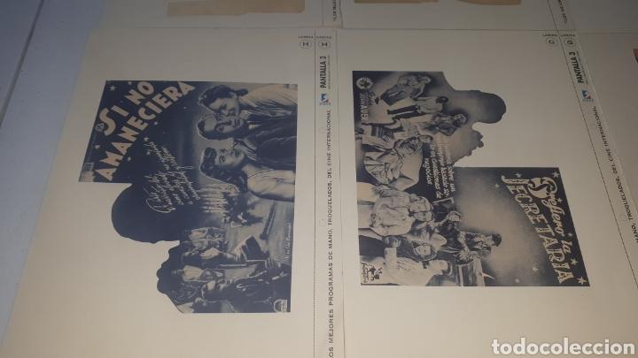 Cine: Lote 11 LAMINAS PROGRAMAS DE MANO TROQUELADOS PANTALLA 3 LEER DESCRIPCION - Foto 9 - 248149005