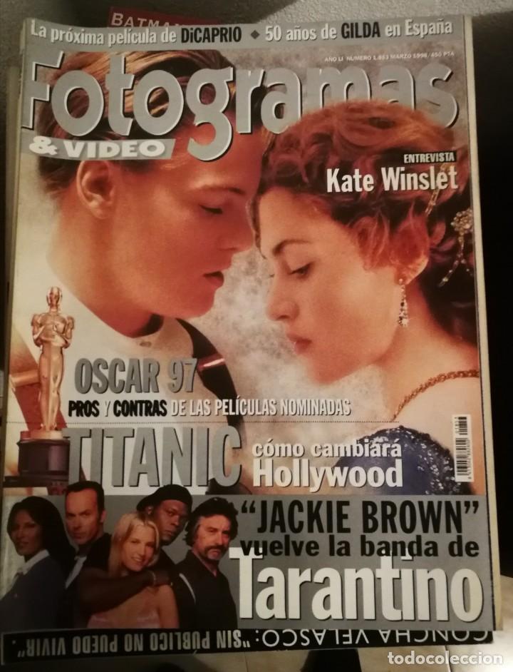 FOTOGRAMAS 1853. MARZO 1998. TITANIC, DICAPRIO, KATE WINSLET, TARANTINO... .. (Cine - Revistas - Fotogramas)