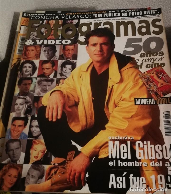 FOTOGRAMAS 1839. ENERO 1997. NÚMERO DOBLE. 50 AÑOS DE AMOR AL CINE. MEL GIBSON... (Cine - Revistas - Fotogramas)
