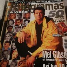 Cine: FOTOGRAMAS 1839. ENERO 1997. NÚMERO DOBLE. 50 AÑOS DE AMOR AL CINE. MEL GIBSON.... Lote 248283380
