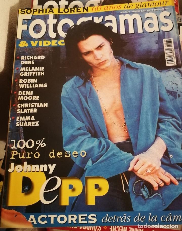 FOTOGRAMAS 1831.MAYO 1996. JOHNNY DEPP, EMMA SUAREZ, EMMA THOMPSON... (Cine - Revistas - Fotogramas)