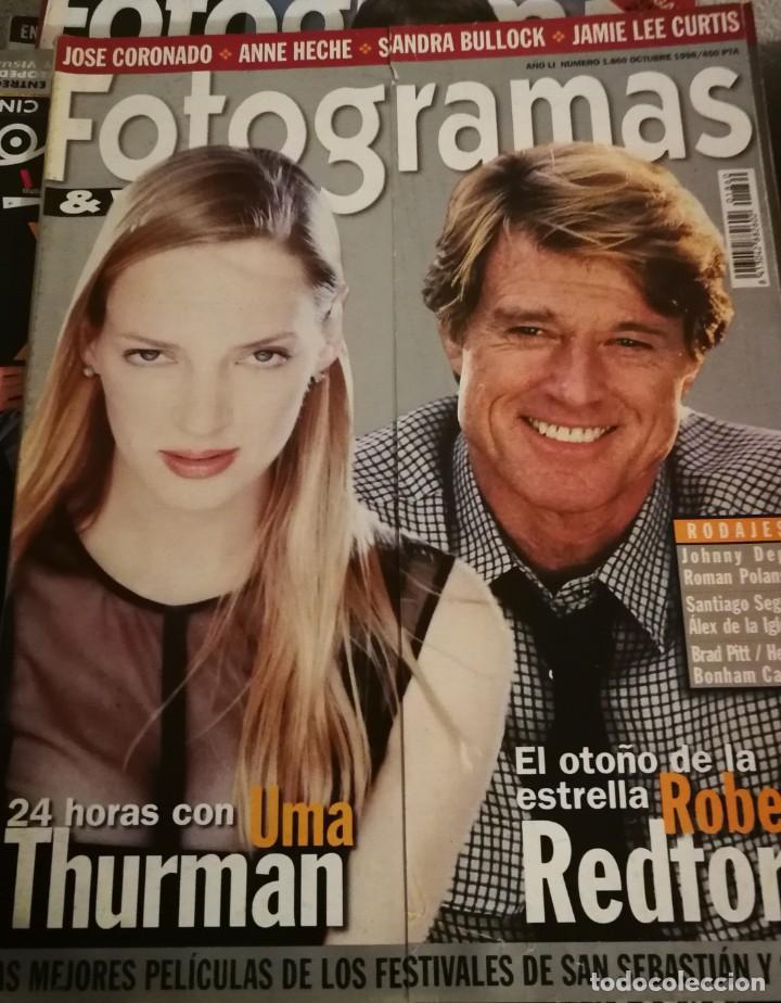 FOTOGRAMAS 1860. OCTUBRE 1998. UMA THURMAN, ROBERT REDFORD... (Cine - Revistas - Fotogramas)