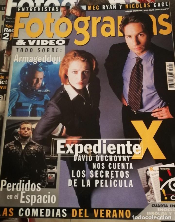 FOTOGRAMAS 1857. JULIO 1998. EXPEDIENTE X... (Cine - Revistas - Fotogramas)