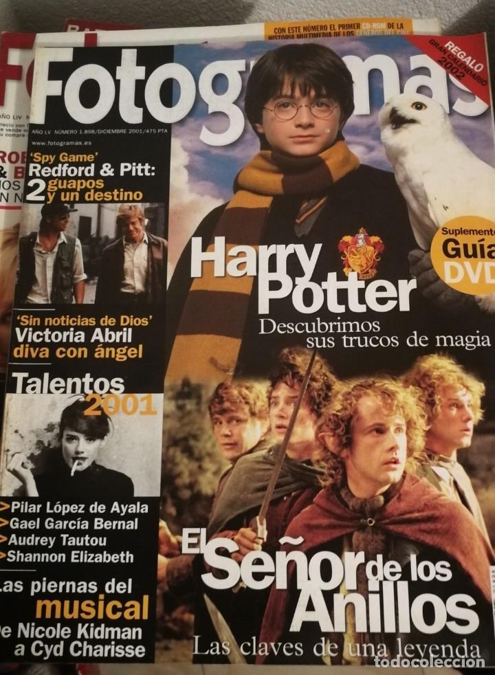 FOTOGRAMAS 1898. DICIEMBRE 2001. HARRY POTTER, EL SEÑOR DE LOS ANILLOS... (Cine - Revistas - Fotogramas)