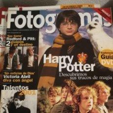 Cine: FOTOGRAMAS 1898. DICIEMBRE 2001. HARRY POTTER, EL SEÑOR DE LOS ANILLOS.... Lote 248286210