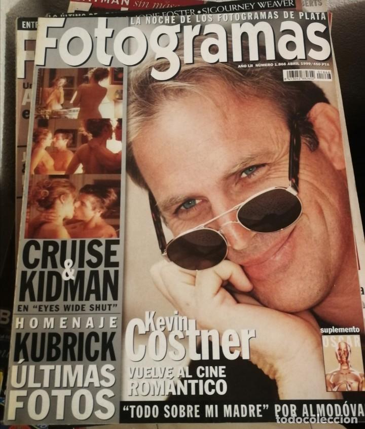 FOTOGRAMAS 1866. ABRIL 1999. KEVIN COSTNER, STANLEY KUBRICK, KIDMAN, CRUISE... (Cine - Revistas - Fotogramas)