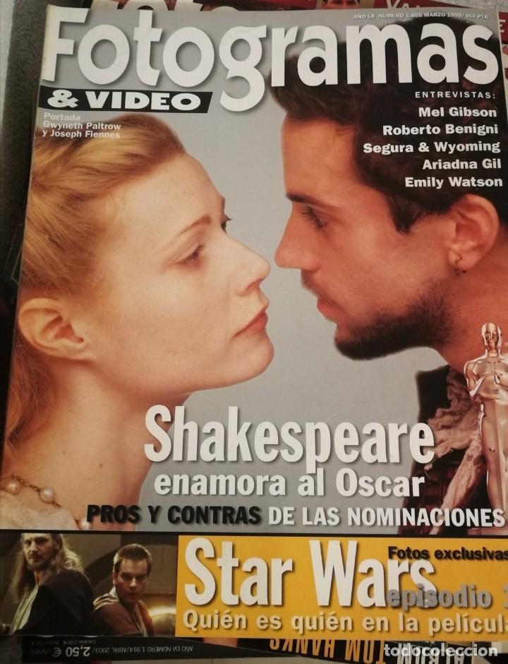 FOTOGRAMAS 1865. MARZO 1999. SHAKESPEARE IN LOVE, STAR WARS... (Cine - Revistas - Fotogramas)