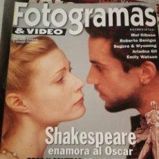 Cine: FOTOGRAMAS 1865. MARZO 1999. SHAKESPEARE IN LOVE, STAR WARS.... Lote 248453900