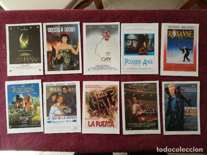 Cine: LOTE 100 REPRODUCCIONES CARTELES 15 X 11 ALIEN BLADE RUNNER MUJERES AL BORDE MATAR AL NANI EL LUTE - Foto 12 - 248456140