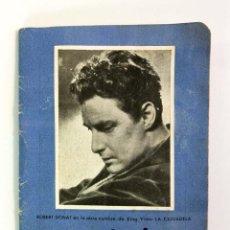 Cine: REVISTA ESPECTÁCULOS – PROGRAMA DE LA SEMANA 49 – NOVIEMBRE 1943 – ROBERT DONAT. Lote 246949945