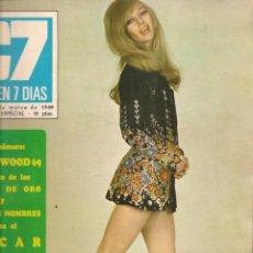 Cinema: CINE EN 7 DIAS. Nº 414. LUIS LUCENA / MIGUEL RIOS / DIANA KJAER / 15 MARZO 1969(*). Lote 249208100
