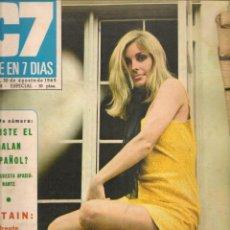 Cinema: CINE EN 7 DIAS. Nº 438. URTAIN / SHARON TATE / FLORINDA BOLKAN . 30 AGOSTO 1969(*). Lote 249287465