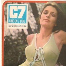 Cinema: CINE EN 7 DIAS. Nº 481. LARRAINE HUMPHRYS / ROCIO Y JUNIOR / BETSABE RUIZ . 27/6/ 1970.(*). Lote 249310570