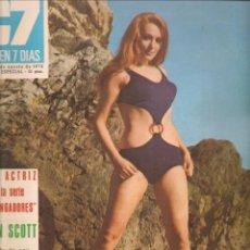 Cine: CINE EN 7 DIAS. Nº 487. SUSAN SOTT / KRISTINA AGARD / TERESA GIMPERA / CARLOS SAURA. 8/8/1970.(*). Lote 249330215