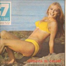 Cine: CINE EN 7 DIAS. Nº 490. CARMEN SEVILLA / HELGA BRUNSWICK / DANIELA GIORDANO / INGRID BERGMAN.1970(*). Lote 249331360