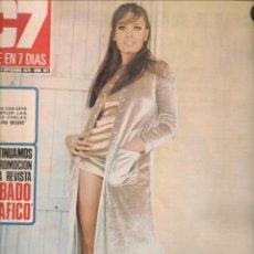 Cine: CINE EN 7 DIAS. Nº 501. MARISA MELL / SAMANTA EGGAR / BOB HOPE / SIDNEY POITIER / JASMINA. 1970 (*). Lote 249361980