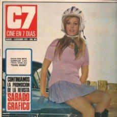 Cine: CINE EN 7 DIAS. Nº 504. PURI VILLA / MARISA MELL / MAGDA KONOPKA / KATHARINE HEPBURN. 5/XII/1970(*). Lote 249362815