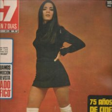 Cine: CINE EN 7 DIAS. Nº 507. 75 ALOS DE CINE. PILAR VELAZQUEZ / MATI MISTRAL / RAQUEL WELCH. XII/1970(*). Lote 249364855