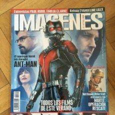 Cine: REVISTA CINE IMAGENES # 359 ANT-MAN MARVEL THE MARTIAN TERMINATOR. Lote 249461350