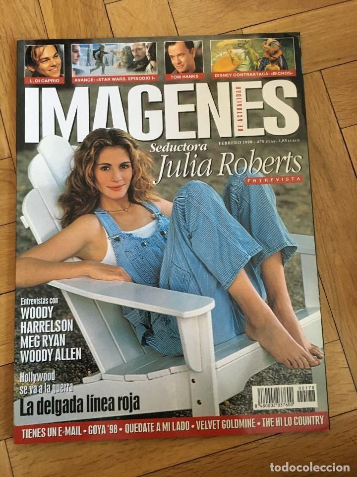 REVISTA CINE IMAGENES FEBRERO 1999 JULIA ROBERTS HARRELSON MEG RYAN WOODY ALLEN DI CAPRIO (Cine - Revistas - Imágenes de la actualidad)