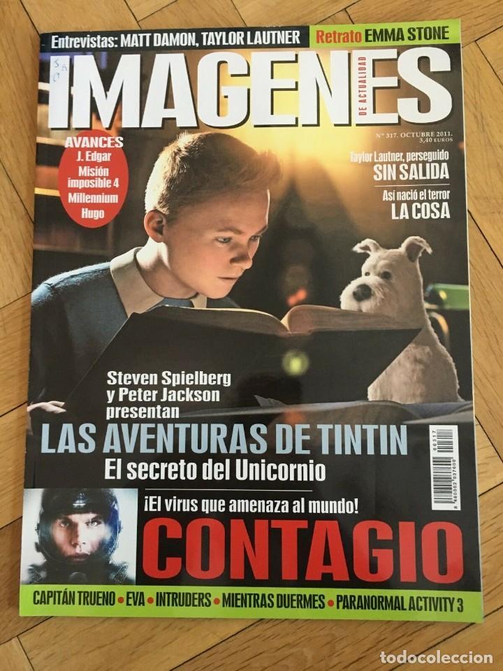 REVISTA CINE IMAGENES # 317 THE ADVENTURES OF TINTIN MILLENIUM HUGO TAYLOR LAUTNER (Cine - Revistas - Imágenes de la actualidad)
